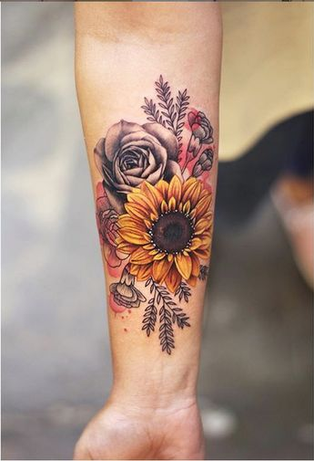 Flower Tattoo by Joice Wang