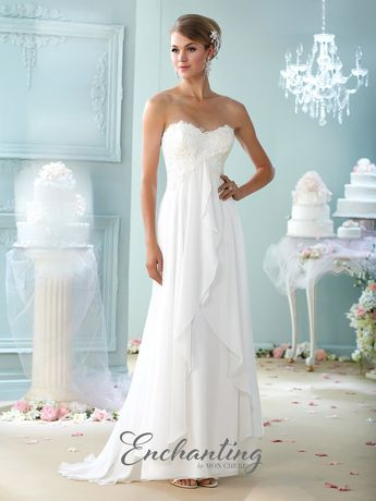 Check out the deal on Enchanting by Mon Cheri 215108 Lace Destination Wedding Gown at French Novelty