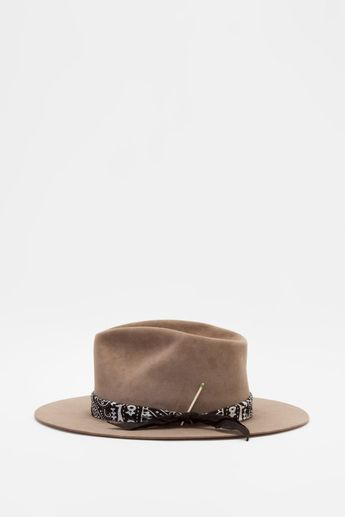 47b87bc633bbc Nick Fouquet - Diamond personalizado sombrero de Brown