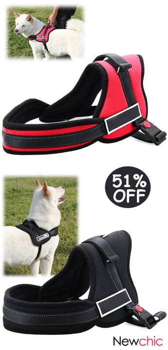 【51% off】K8 Safety Lock Break Resistant Pet Harness Adjustable Harness for Large Dogs.#pet #harness#animals