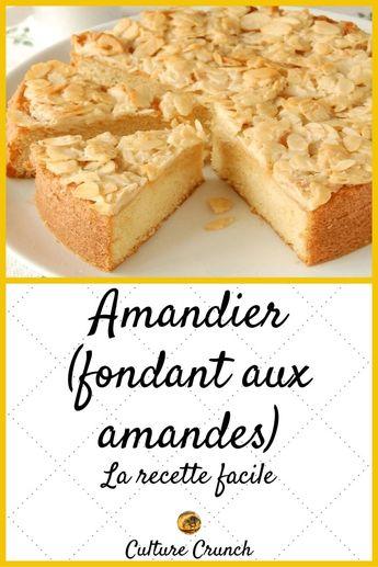 #culturecrunch #cuisine #recettes #desserts #gâteaux #recettefacile #recetterapide #inspiration #recette #gâteau #recette #gâteau #dessert #amandes