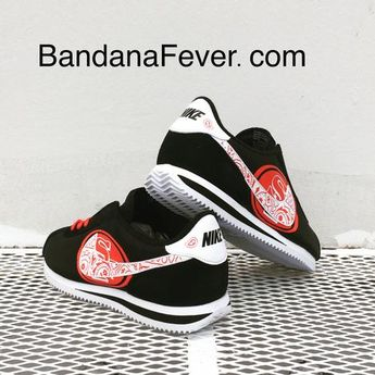 84495102 Bandana Fever Bandana SF 49ers Big Print Custom Black/White Nike Cortez  Shoes