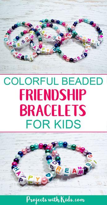 Colorful Beaded Friendship Bracelets for Kids