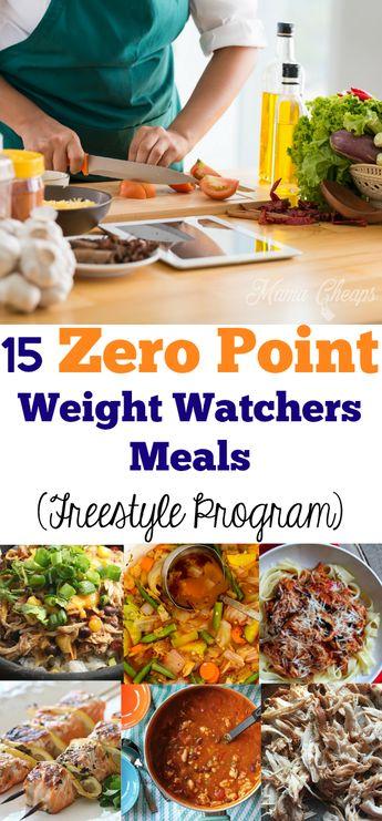 15 Zero Point Weight Watchers Meals (Freestyle Program