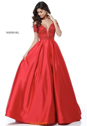fb9c3ba400610 Sherri Hill Cap Sleeve Beaded Dress 51611