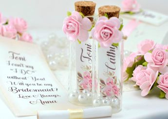 Be my Bridesmaid, Maid of Honor proposal, Will you Be my Bridesmaid card, Flower girl Gift Personalize Message in a Bottle