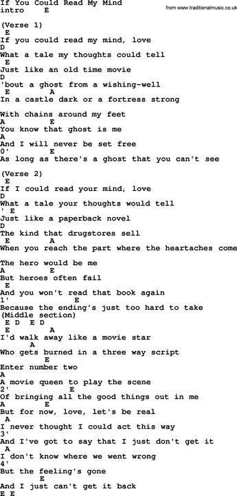 If You Could Read My Mind Gorda Lightfoot Ukulele Chords