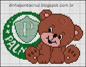 Dinha Ponto Cruz  Ursinhos de times de futebol 4971cf6068fd6