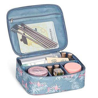 HAITRAL Makeup Bag,Toiletry Bag Travel Kit Organizer Waterproof Cosmetic Case for Girls