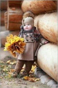 Cute Kids in Autumn
