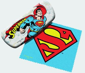 DC Comics Eyeglass Case with Cleaner Sheet (Superman)