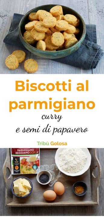 Biscotti al parmigiano, curry e semi di papavero
