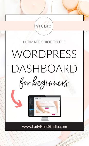 Ultimate Guide to the WordPress Dashboard for beginners. Starting a blog or website using WordPress is the best call but many don't, because they find it confusing! I break down the WordPress Dashboard Essentials to get you started off on the right foot! #Wordpressblog #WordpressWebsite #WordpressDashboard