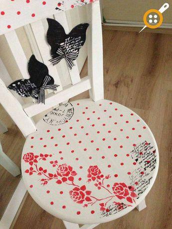57 Adet Ahşap Sandalye Boyama örnekleri Evde Sandalye Bo