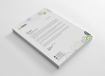 Wheel Letterhead Template - Graphic Templates