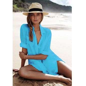 Long Sleeve Cover Up Beach Shirt