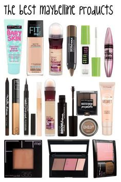 """""""The best maybelline products"""" by sabrinagirl17 ❤ liked on Polyvore"""