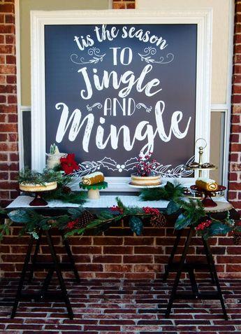 Jingle and Mingle Christmas Party Ideas