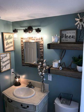 42 best farmhouse bathroom remodel decor ideas