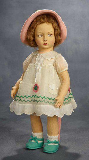 Italian Felt Child Doll, Serie... Auctions Online   Proxibid