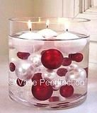 red and white diamonds and gems pearls vase fillers