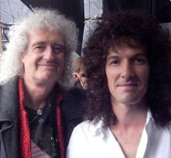 The highly anticipated film Bohemian Rhapsody will have actors playing the iconic rockstars and the intimate moments behind their charting success through the years. Pictured: Brian May (left) with actorGwilym Lee (right)