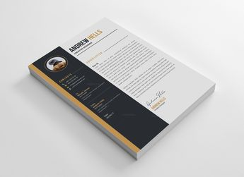 Coffee CV Design Template 002881 - Template Catalog