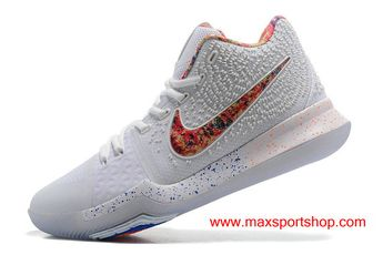 077ecd56a2ae Nike Kyrie 3 iD White Colorful Men s Basketball Shoes