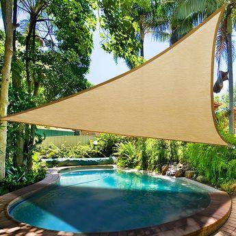 Yescom Patio Triangle Sun Sail Shade Canopy 11.5ft Color Optional