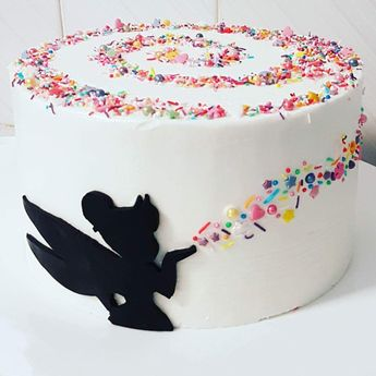 Tinker bell magic swirl cake