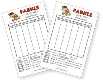 Free Farkle Score Sheet