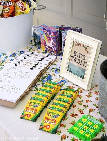 Kid's Table – Camping Theme Wedding Reception