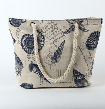 Yogodlns New Women Handbag Canvas Floral Printing Shoulder Beach Bags Casual Female Tote Shopping Bag Bolsa Feminina 2017