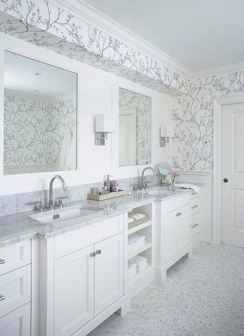 Schumacher Twiggy Wallpaper in Silver 5003340