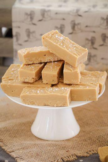 Microwave Salted Caramel Fudge