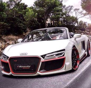 """004 Audi R8 - Super Car Racing Car concept 22""""x14"""" Poster - comuinty service"""
