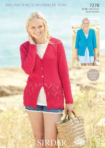 b866f29d7 Cardigans in Sirdar Beachcomber DK - 7278 - Downloadable PDF