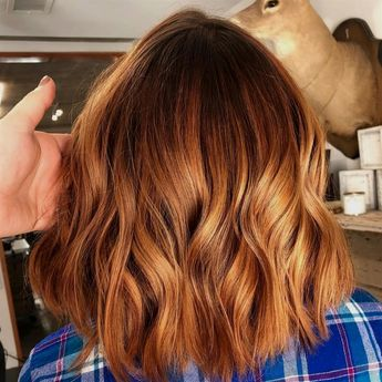 """Shiny copper balayage _____________________________ _____________________________…"""" #OmbreHair"""
