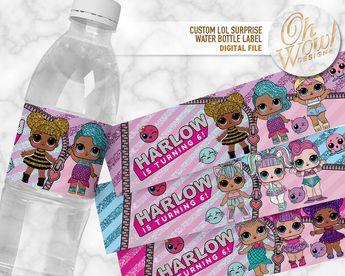 Lol Surprise Dolls Water Bottle Labels Instant Download L