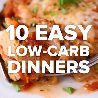 10 Easy Low-Carb Dinners #swap #dinner #veggies