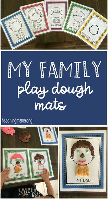 Family Play Dough Mats (Teaching Mama)