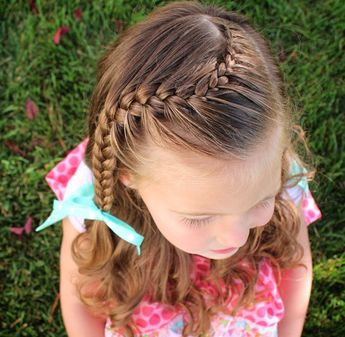 Lace to french curved braid