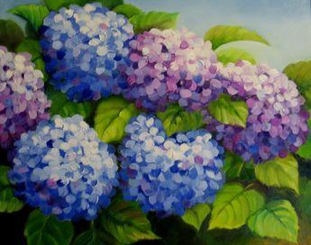 hydrangea painting | Nel's Everyday Painting
