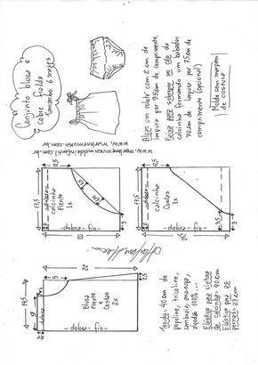 b4df9f4270 Conjunto de blusa com cobre fralda bebê - DIY- marlene mukai - molde  infantil