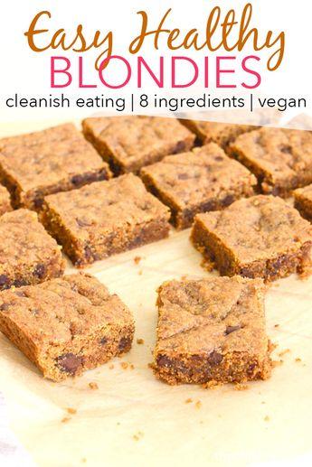Healthy Vegan Spelt Coconut Sugar Blondies