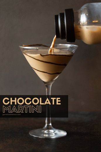 Chocolate Martinis are dessert in a glass. Just measure mix and pour and dessert is on the table! #chocolate #martinis #vodka #cocktails