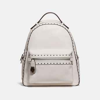 3505f00abda6 COACH Campus Backpack With Rivets - Women s Backpacks