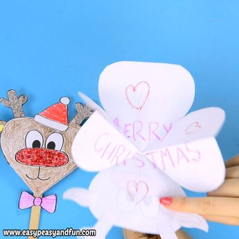 Paper Reindeer Craft With Printable Template