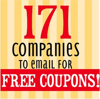 171 Companies to Email For Coupons & Free Products