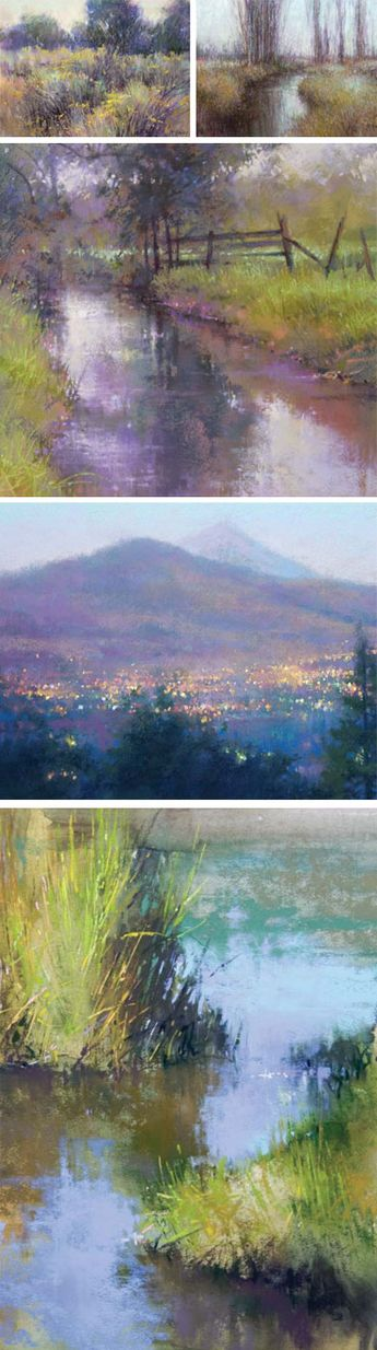 Discover the landscape paintings of Richard Mckinley  Find instruction from him at North Light Shop!   #landscapepainting #art #outdoors #painting #pastels #oil #pleinair